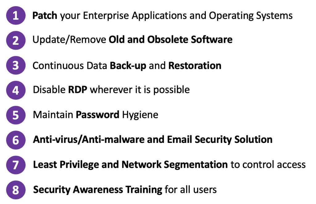 8 steps to prevent ransomware