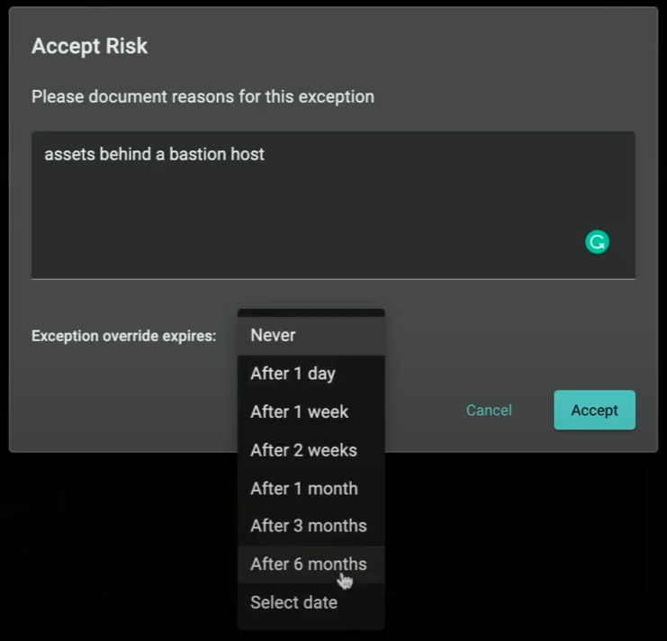 Accept Risk