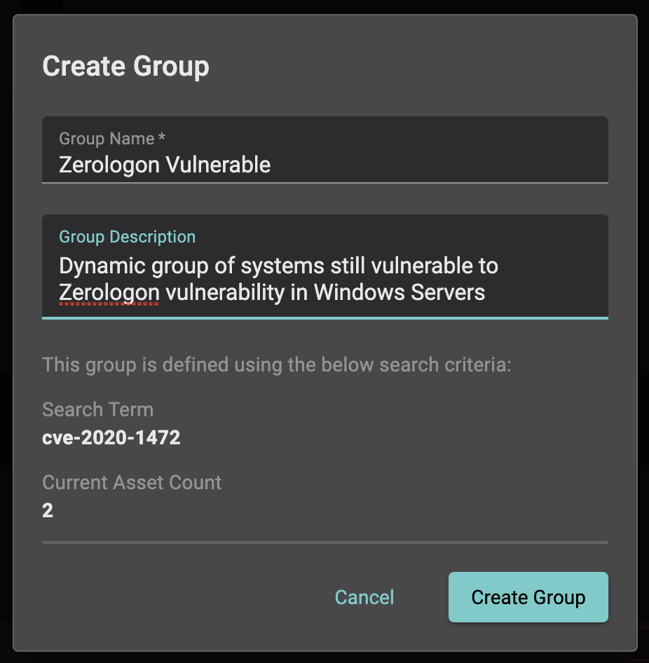 zerologon dynamic group
