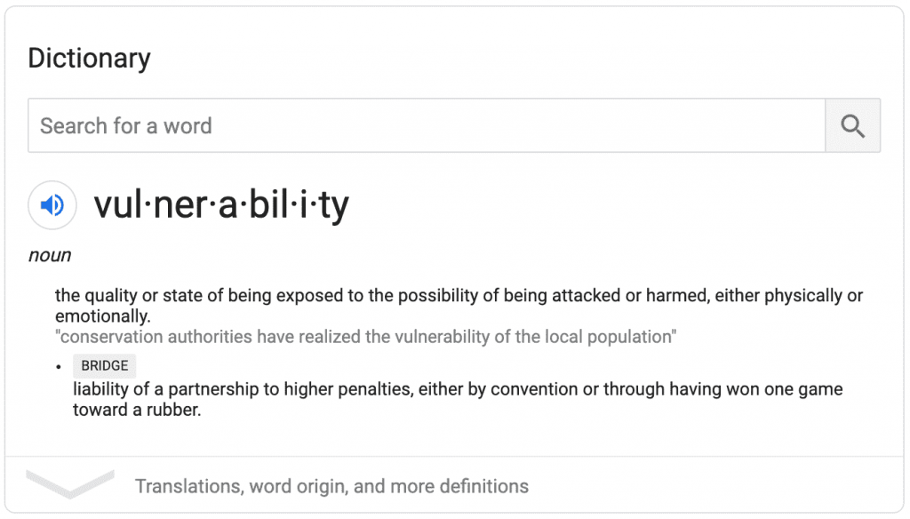 definition of a vulnerability