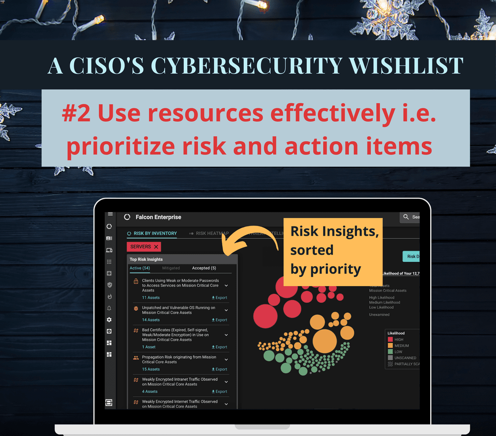 CISOs Wishlist #2 - Effectively Prioritize Risk and Action Items